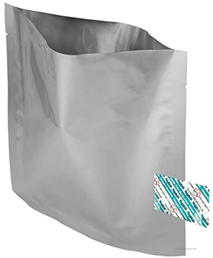 80 1 Quart Mylar Bags & Oxygen Absorbers for Dried Food & Long Term Storage by Dry-Packs!