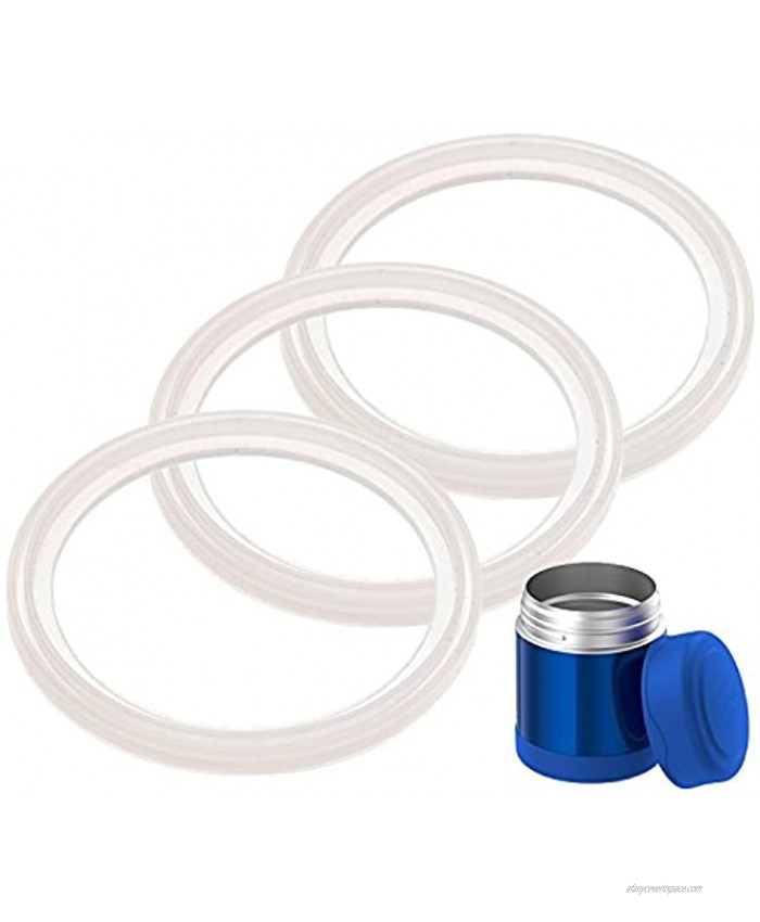 3-Pack of Thermos TM Food Jar 10 Ounce FUNtainer TM -Compatible Gaskets O-Rings Seals by Impresa Products BPA- Phthalate- Latex-Free Replacement for 10 Ounce Container