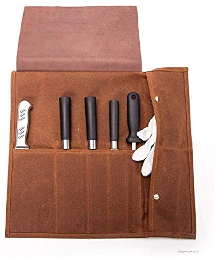 Knife Roll Canvas Knife Roll Bag for Chefs Portable Travel Tool Roll Bag Christmas Gift for Culinary Student Professional Chef for Men Women for Meat Cleaver Japanese Knife for Working Camping