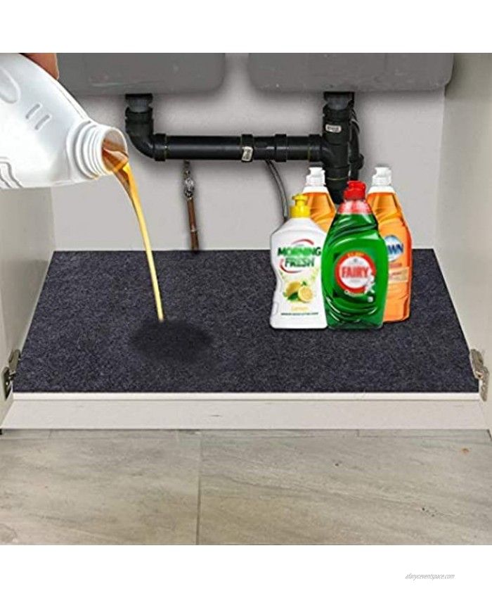 Under The Sink Mat,Kitchen Tray Drip,Cabinet,Absorbent Felt Layer Material,Backing Waterproof36inches x 24inches