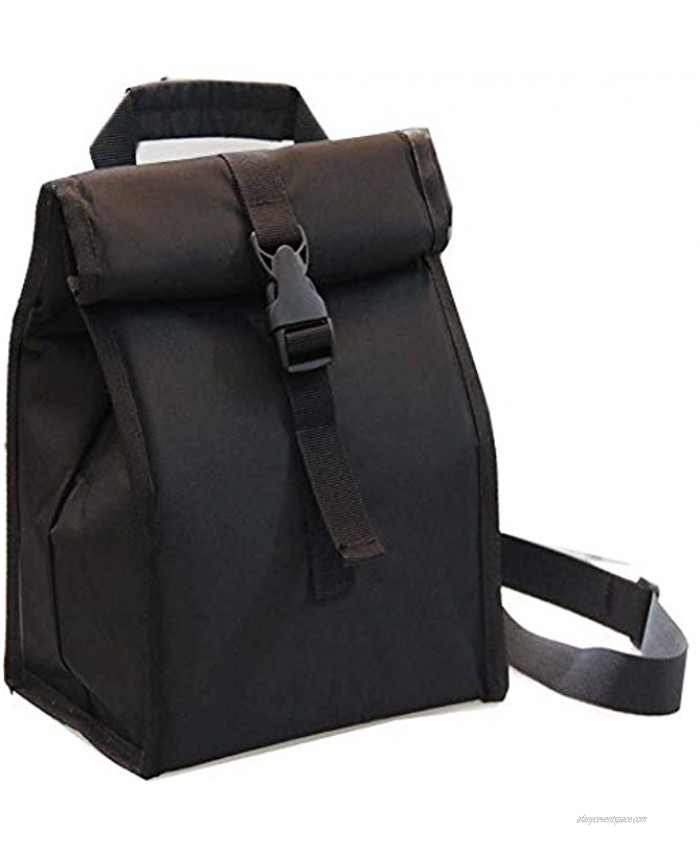 Insulated Lunch Bag Thermal Foldable Lunch Box with Adjustable Shoulder Strap for Men Adults Women Office Work Picnic Hiking Beach