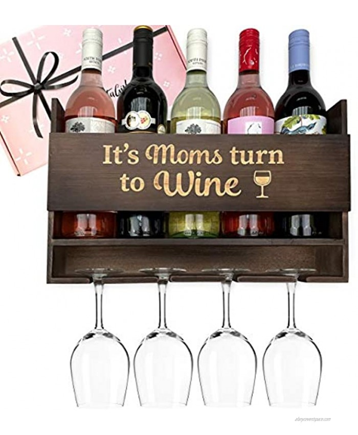 GIFTAGIRL Gifts for Mom Like Our Hugely Popular It's Moms Turn to Wine are Funny Mom Gifts Make Great Birthday Gifts for Mom and are Unique Gifts for Mom Who Has Everything