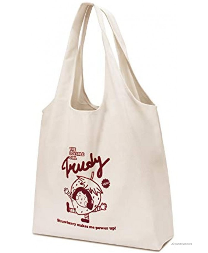 CGBE Canvas Tote Bags with Inner Pocket Reusable Grocery Bags Bulk Reusable Shopping Bags Large Capacity Machine Washable