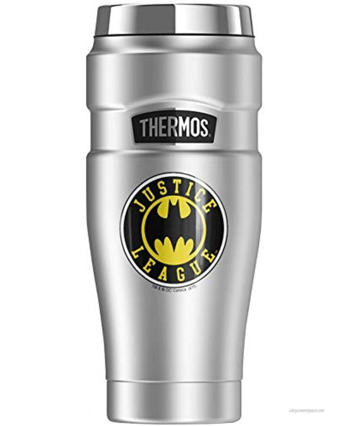Batman Batman Athletic Logo THERMOS STAINLESS KING Stainless Steel Travel Tumbler Vacuum insulated & Double Wall 16oz