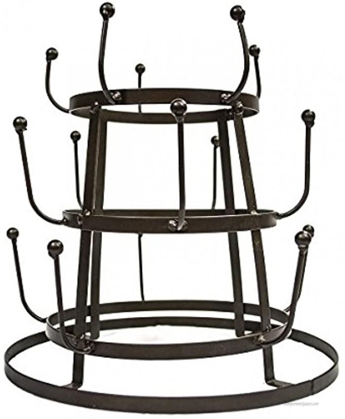 Sorbus Mug Holder Tree Organizer Drying Rack Stand Bronze