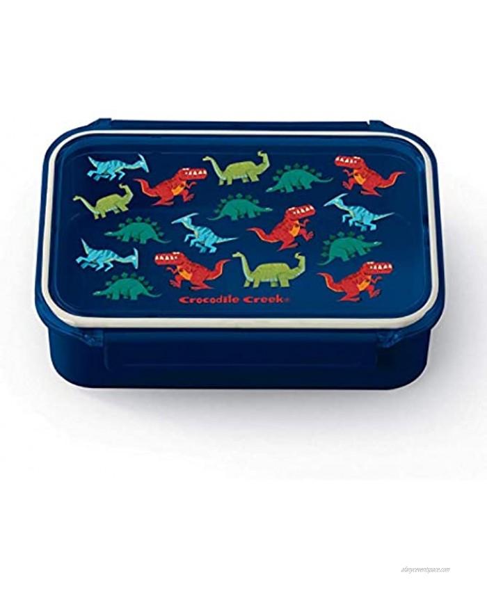 Crocodile Creek Dinosaurs Bento Box with Removable Divider Dishwasher-Safe Microwave and Freezer Safe for Kids 3+ Blue 65406